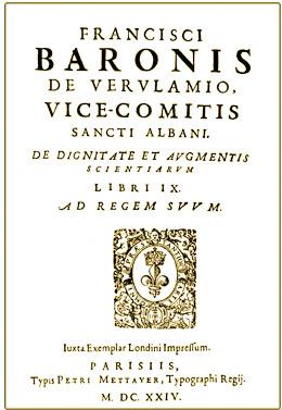 De Dignitate et Augmentis Scientiarum