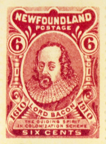 Lord Bacon, 6c Newfoundland Postage Stamp