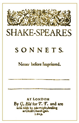 Shake-speares Sonnets titlepage (1609)