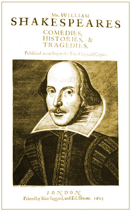 Shakespeare 1623 Folio titlepage