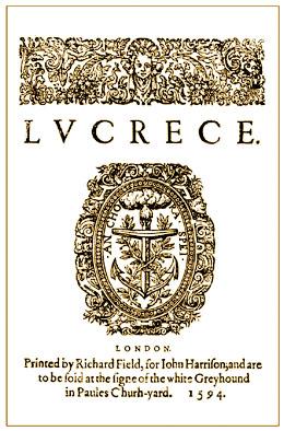 Lucrece titlepage (1594)