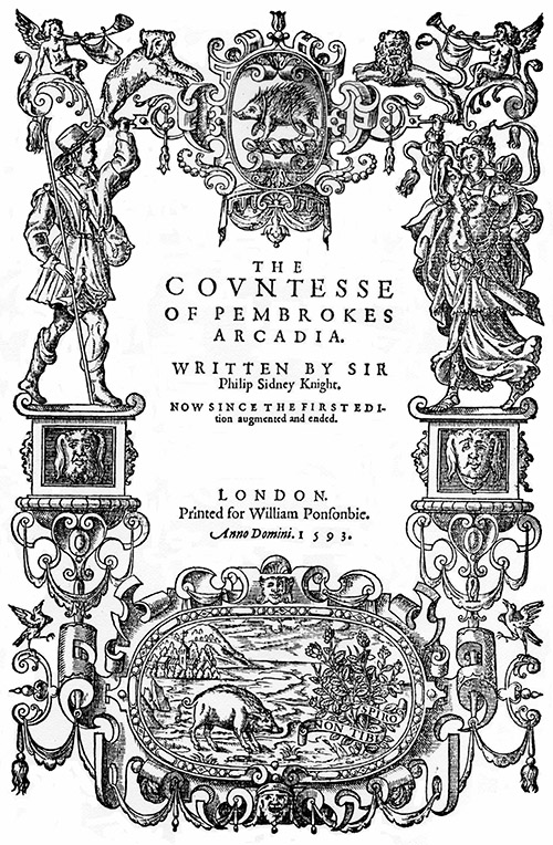 Sidney, The Countess of Pembroke's Arcadia (1593) titlepage