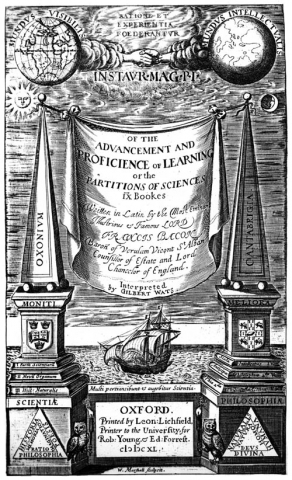 Bacon, Advancement of Learning (1640) titlepage