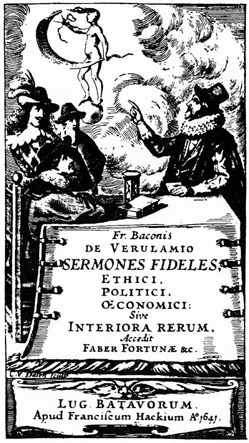 Bacon, Sermones Fideles (1641) titlepage