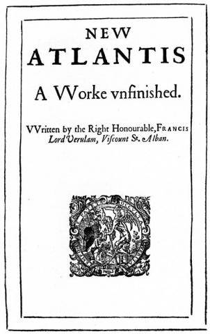 Bacon, New Atlantis (1627) titlepage
