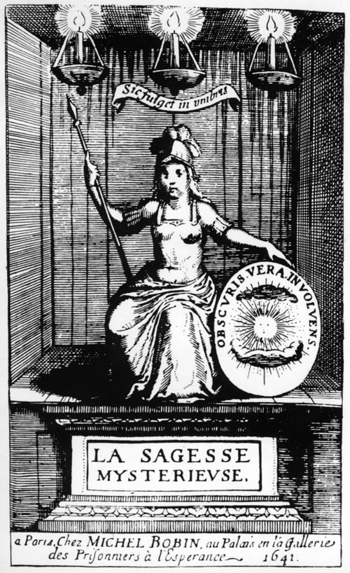 Bacon, La Sagesse Mysterieuse des Anciens (1641) frontispiece