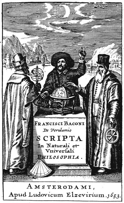 Bacon, Scripta in Naturali et Universali Philosophia (1653) titlepage