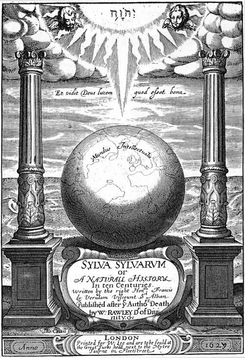Bacon, Sylva Sylvarum or Natural History (1627) titlepage