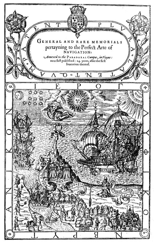Dee, Perfect Arte of Navigation (1577) titlepage