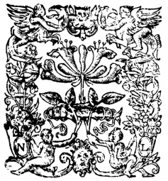 Titlepage emblem: Shakespeare, Hamlet (1604)