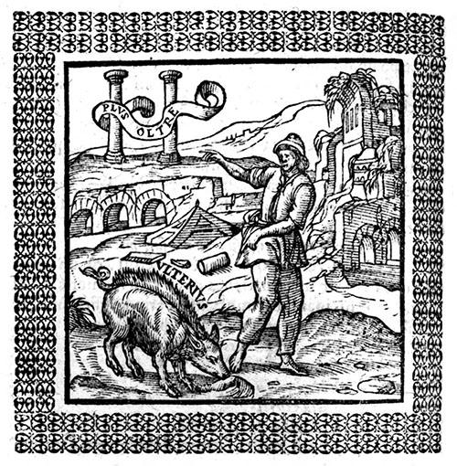 """""""In Dies Meliora"""" emblem: Andrea Alciat, Emblemata (1577)"""