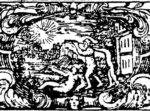 Freemasonic headpiece: Shakespeare's Sonnets (1723)