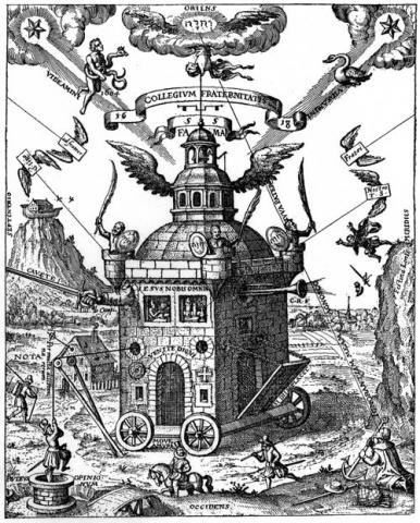 Schweighardt, Speculum Sophicum Rhodo-stauroticum (1618) RC College illustration