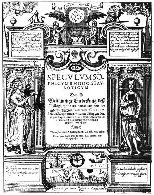Schweighardt, Speculum Sophicum Rhodo-stauroticum (1618) titlepage