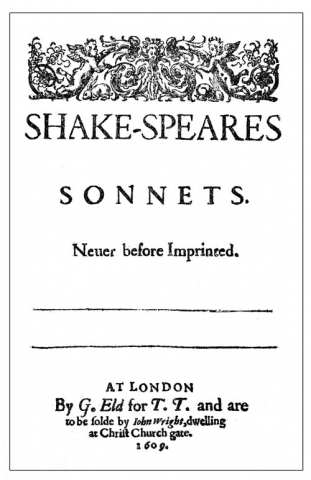 Shake-speares Sonnets (1609) titlepage