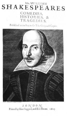 Shakespeare Folio (1623) titlepage