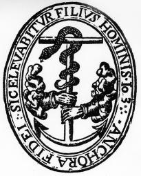 Anchor of Faith titlepage emblem: Francis Bacon, New Atlantis (1631)