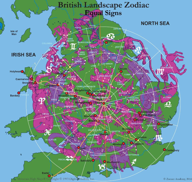 Landscape Zodiac of Britain (The Round Table)