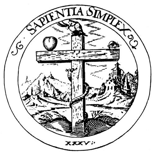 """""""Simple Wisdom"""" emblem 35: Daniel Cramer, Emblemata Sacra (1617)"""